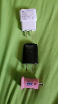 three charger adapters