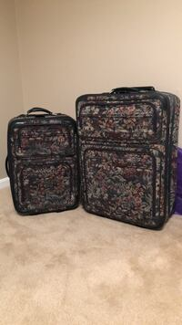 two black and brown floral luggage bags Brookeville, 20833