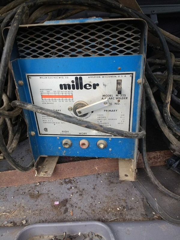 blue Miller arc welder