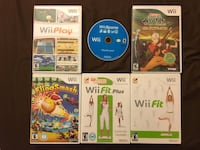 6 Nintendo Wii Games including Wii Sports