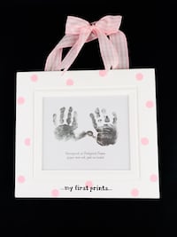 Baby Girl Pink & White Checkered My First Prints Photo Frame 935 mi