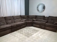 3 Piece Chocolate Microfiber Sectional with 4 Recliners Miami, 33177