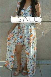 white, blue, and yellow floral pants West Des Moines, 50266