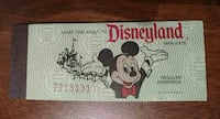 Disney ticket book from 1979