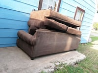 brown suede 2-seat sofa Lubbock, 79415