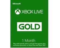 Valid Xbox 1 month Live Gold Pass Kansas City, 64118