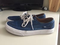 Pair of blue-and-white vans low-top sneakers