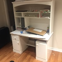 Solid wood desk and hutch Beaconsfield