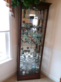 brown wooden framed glass display cabinet Washington, 20004