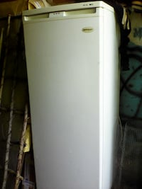 white single-door refrigerator Fergus