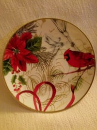 """New ~ 4 """"Holiday Wishes"""" China Appetizer Plates Tustin, 92780"""