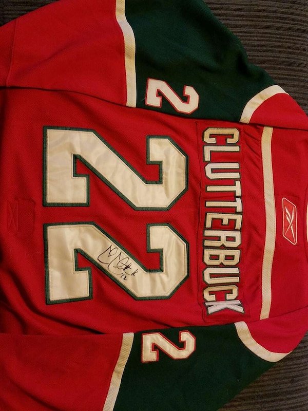 sale retailer 80067 2965d MN Wild jersey with autograph