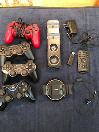 Assorted sony ps3 game controllers