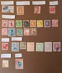 55 100-year-old stamps - lot NPR Mount Airy