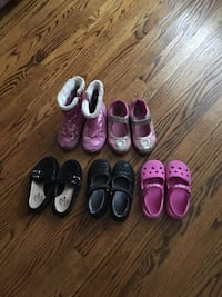 children's five assorted colors and brands of shoes