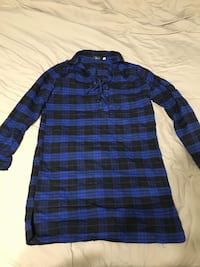 blue and black long-sleeved shirt Galway-Cavendish and Harvey, K0L