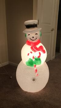 Snowman Holiday Blow Mold 43""