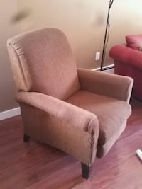 gray suede sofa chair with ottoman Calgary, T3C 3R6