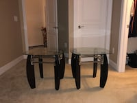 two black-and-white wooden side tables Ashburn, 20148