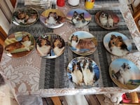 Collectable sheltie plates