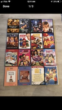 16 DVD kids movies, Batman,bratz,chipmunks  Laval, H7P 0E9