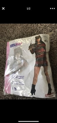 Miss Krueger costume adult size medium.  Bakersfield