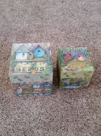 Set of 2 decorative boxes Troy, 12182