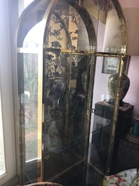 Clear glass display cabinet and mirror backside Falls Church, 22041