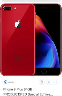 iPhone 8 Red (w/2 cases) clear and pink folio  Edmonton, T6W 2N9