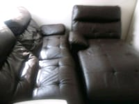 Brown leather 3-seat recliner sofa Lubbock, 79423