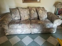 brown and white floral fabric 3-seat sofa San Bernardino, 92410
