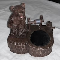 Antique Hand Carved Bear w Glass Eyes - Pin Cushion & Thimble Long Beach, 90802