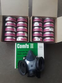 Comfo II 1/2 face respirator 20 filters NEW