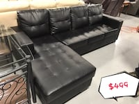 brand new black faux leather sectional sofa warehouse w 多伦多, M1T