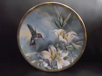 "Bradex Plate 84-P49-22.1 ""Ruby-throated Hummingbird and Lilies"" Hanover"