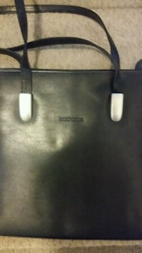 black leather Michael Kors tote bag Hamilton