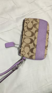 brown and pink Coach wristlet Barrie, L4M 6H3