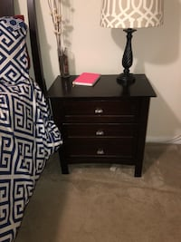 black wooden 3-drawer nightstand Laurel, 20708