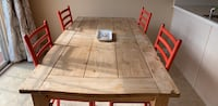 Pier One Kitchen Table w 4 Wicker Red Chairs West Chester, 19380