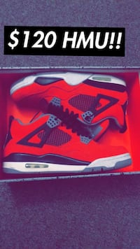 red and black Nike Air Max shoe with box Henderson, 89002