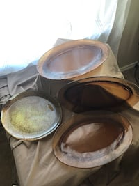 Amber colored platters Mountain City, 78610