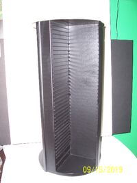Rotating Black CD Tower -- Holds 100 CD's -- Like New Condition