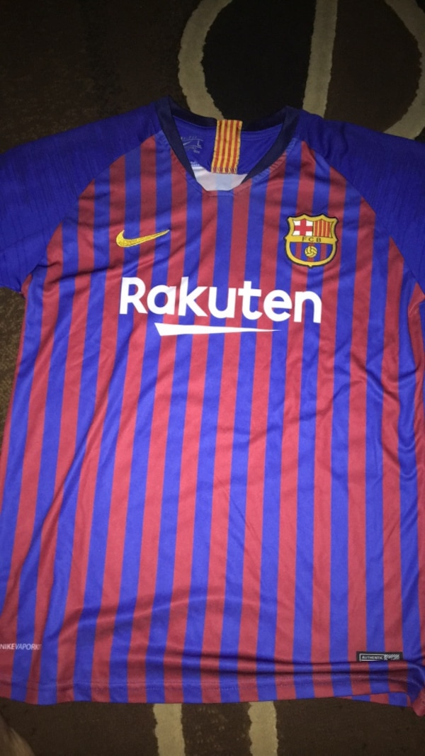 new style fc3f2 5c8a3 Barcelona Nike Jersey 18/19 Messi 10