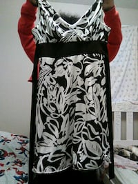 black and white floral sleeveless dress Montreal, H3B