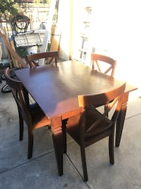Solid wood dining kitchen table set