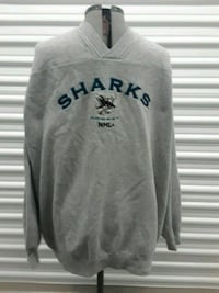 Vintage San Jose Sharks Sweater NHL Grey 2XL  San Jose, 95112