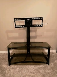black glass-top TV stand with mount Leduc, T9E 0N3