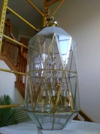 brown wooden framed glass pendant lamp Orland Park, 60467