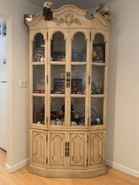 Antique Glass Kitchen Table & China Cabinet