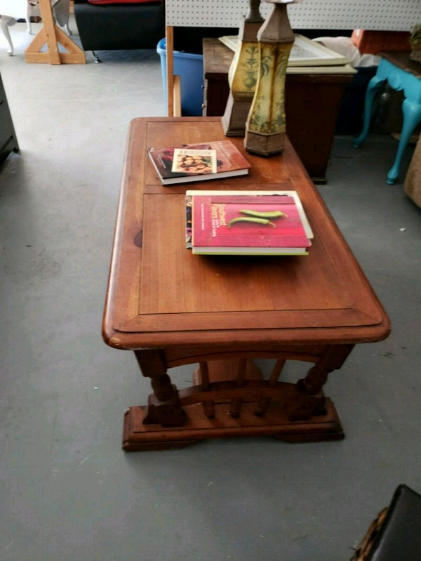 brown wooden table with chair